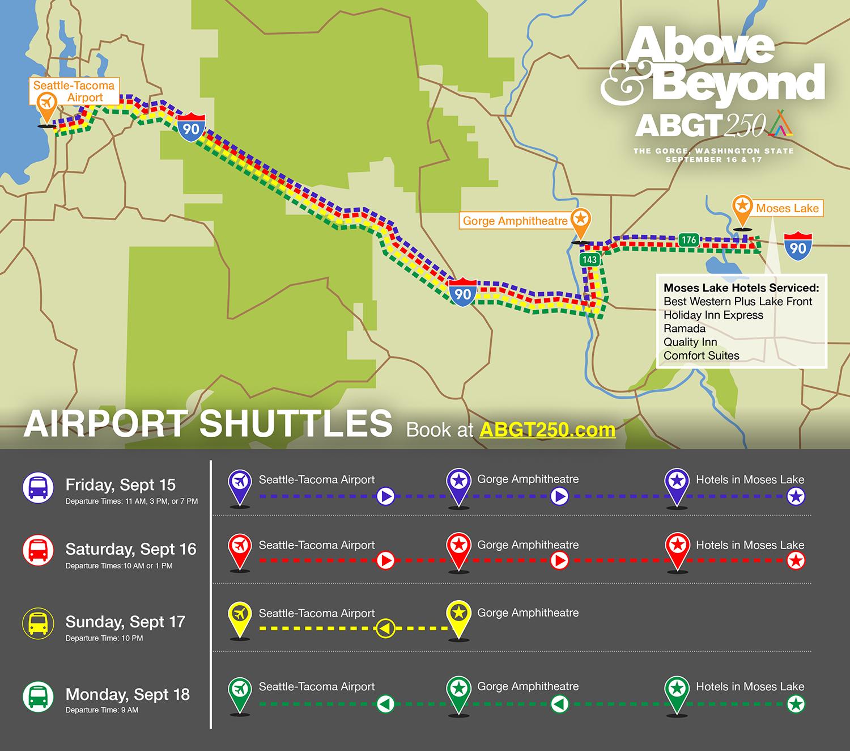 ABGT250 Shuttle Map