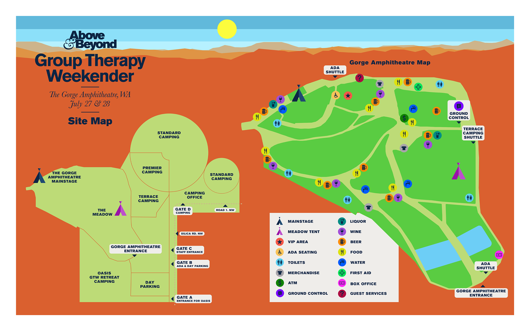 Group Therapy Weekender Site Map